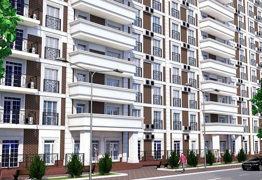 ЖК Лондон в Вышгороде фасад балконы и лоджии
