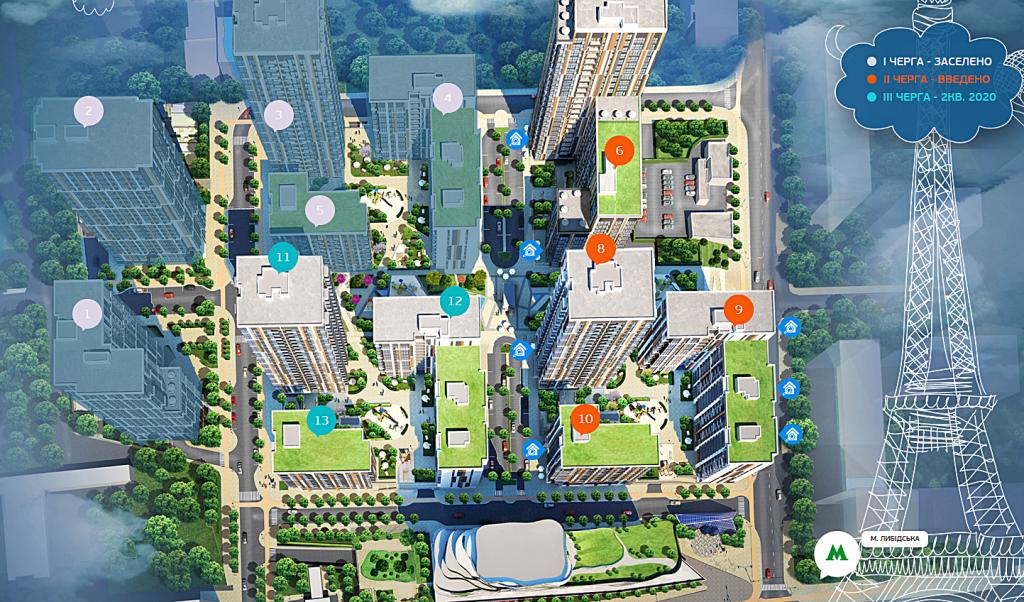 ЖК Французский квартал 2 от bUd development генплан
