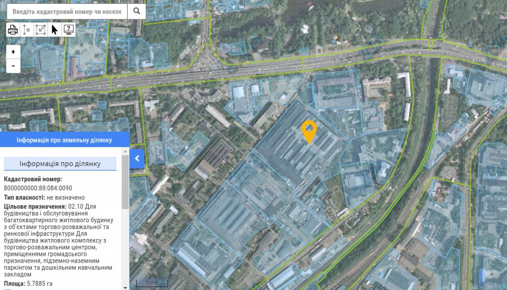 ЖК Нивки Парк от Интергал Буд данные о земле в кадастре