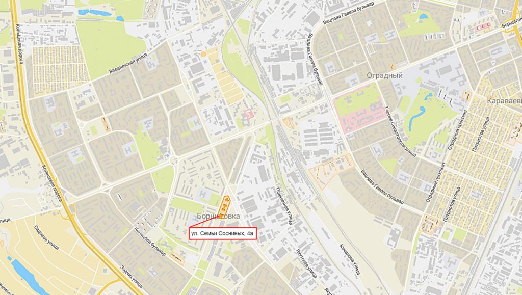 Новостройка на улице Сосниных 4а от Житлоинвестбуд УКБ на карте