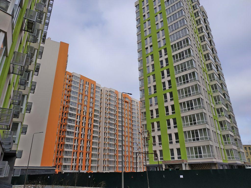 ЖК Нивки Парк от Интергал Буд вид фасадов построенных домов