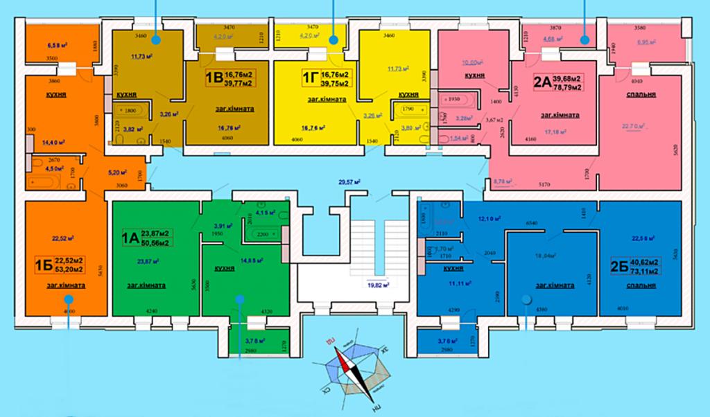 ЖК Чабани 2 в Чабанах план этажа