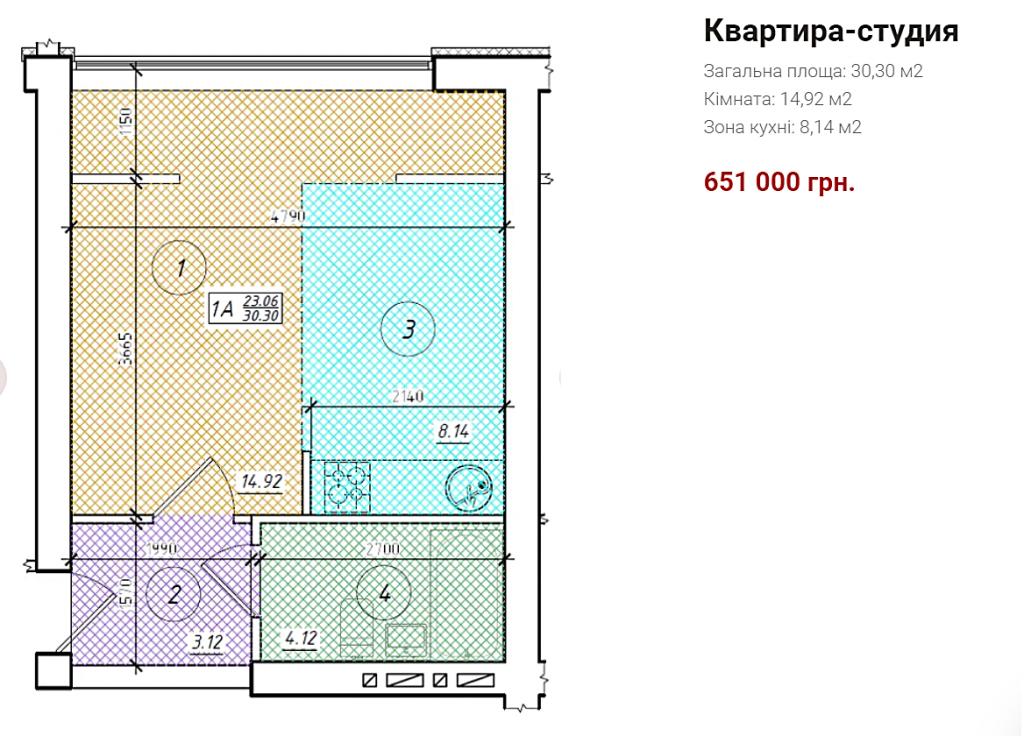 ЖК Весна на улице Осенней в Беличах планировка однокомнатной квартиры