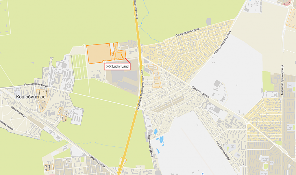 ЖК Лаки Ленд от DIM Group на карте
