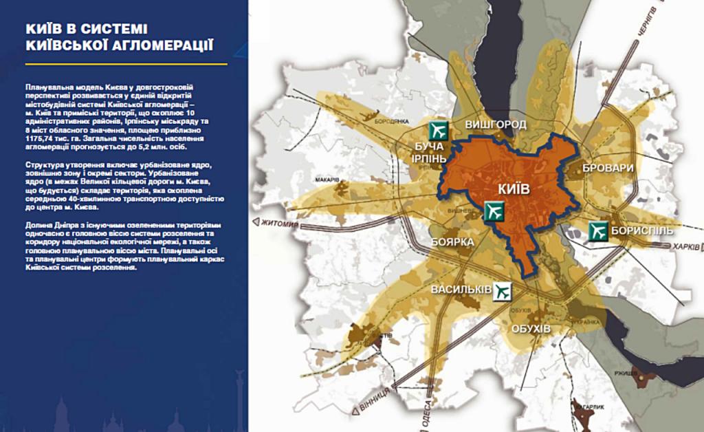 Новый генеральный план Киева 2019 агломерации