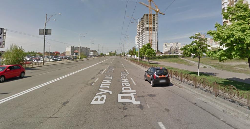 Детальный план территории Троещины улица Драйзера
