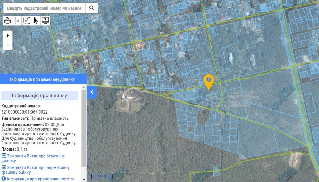 ЖК Рококо Виол в Ирпене данные кадастра о назначении земли