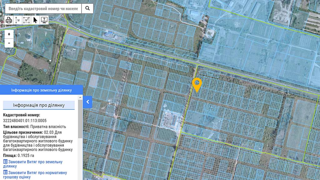 ЖК Амстердам в Белогородке данные кадастровой карты о назначении земли