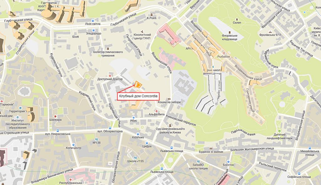 ЖК Конкордия от ИСК Обрий на карте