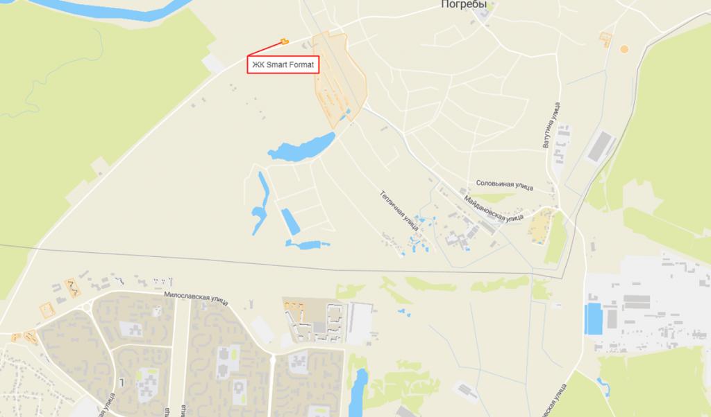 ЖК Смарт Формат в Погребах на карте