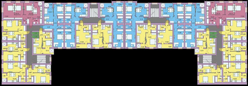 ЖК Рококо Виол в Ирпене план этажа