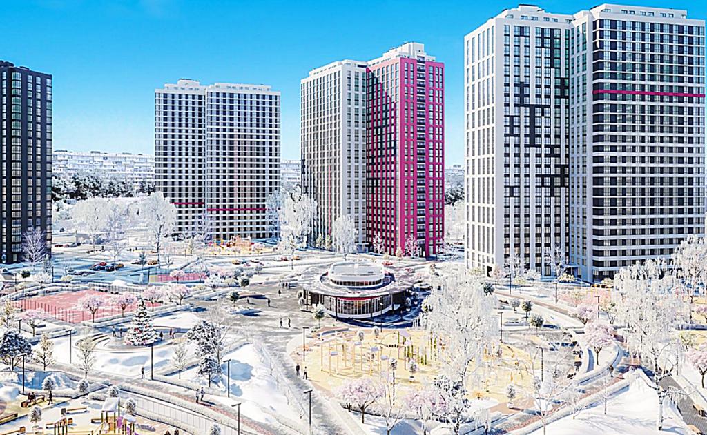 ЖК Варшавский плюс возле новых станций метро зеленой ветки нового Генплана Киева