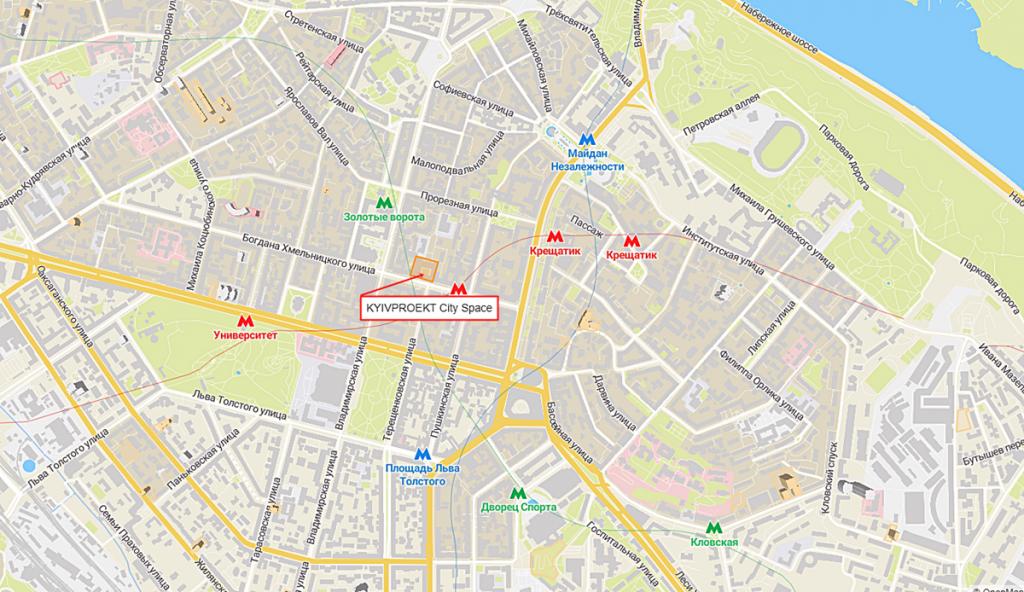 ЖК Киевпроект Сити Спейс новый проект новостройки Киева 2020 на карте