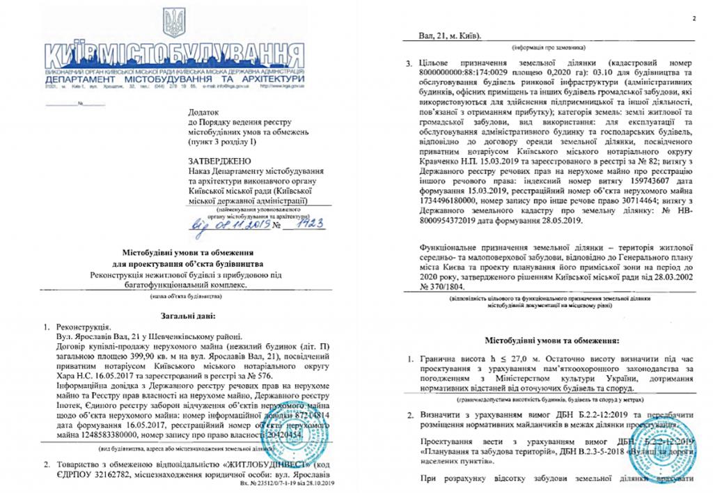 Ограничения для реконструкции нежилого здания на Ярославовом Валу, 21
