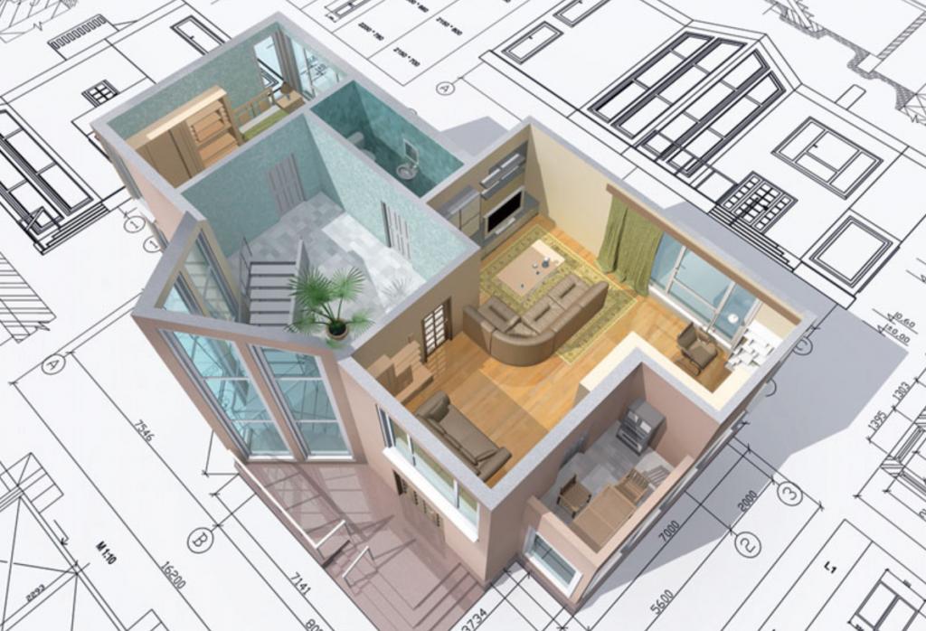 3D-планировка квартиры с ремонтом и мебелью