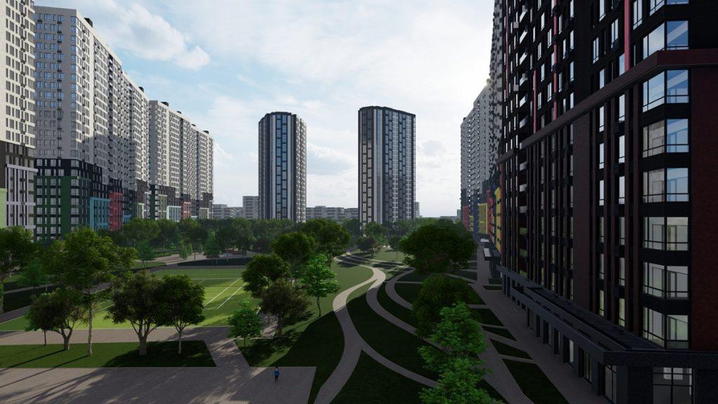 ЖК Стар Сити визуализация внутренней инфраструктуры