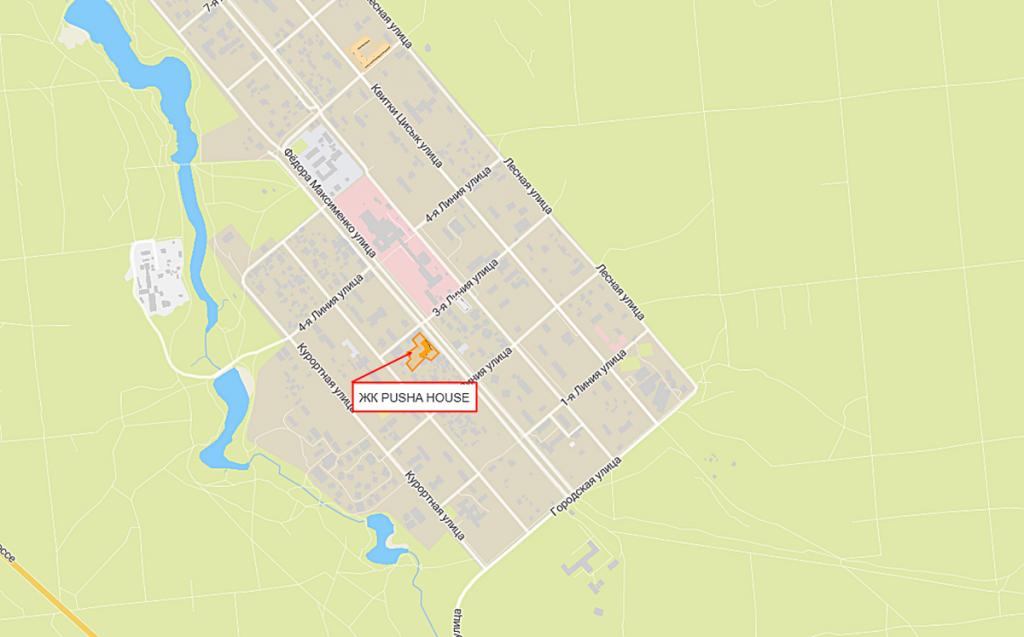 ЖК Пуща Хаус в Пуще Водице на карте