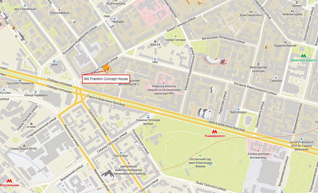 ЖК Франклин Концепт Хаус на карте