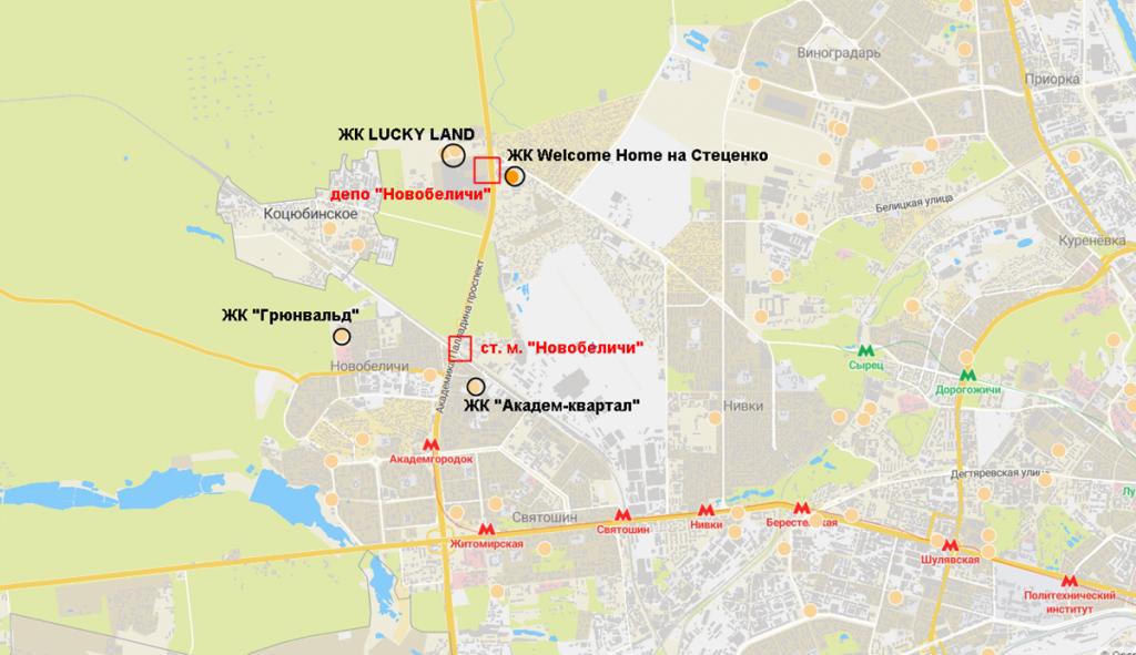 Новостройки на схеме будущей красной ветки метро нового Генплана столицы