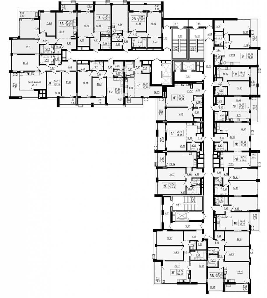 ЖК Пуща Хаус в Пуще Водице план этажа