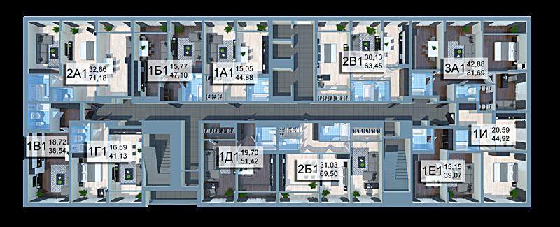 ЖК Стар Сити план этажа
