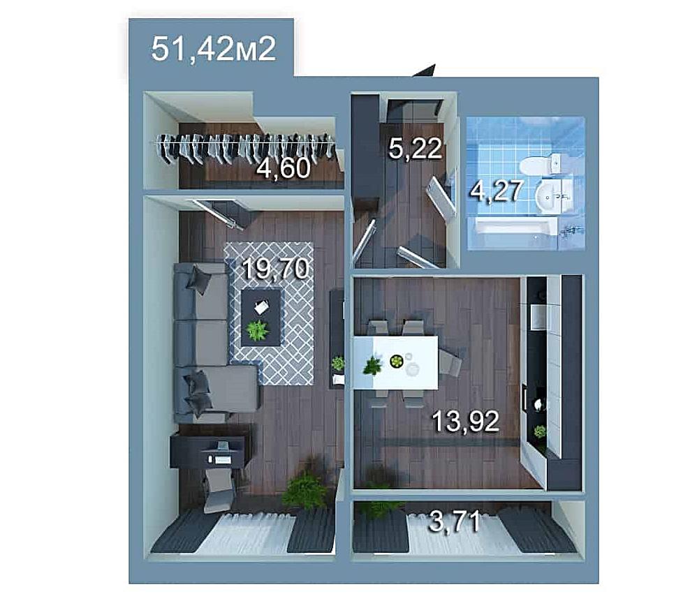 ЖК Стар Сити планировка однокомнатной квартиры