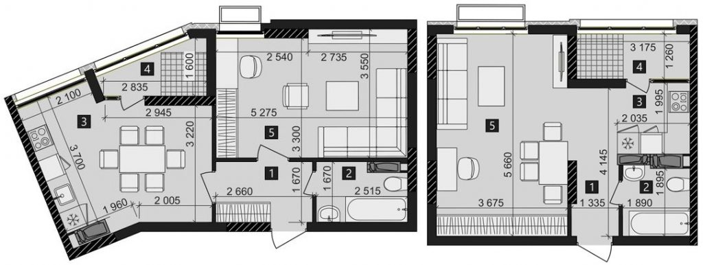 ЖК Лико Град Перфект Таун планировка однокомнатной квартиры