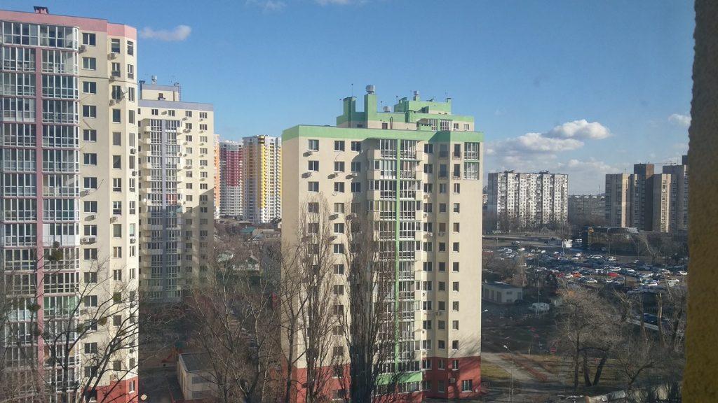 ЖК Русановская Гавань вид из окон