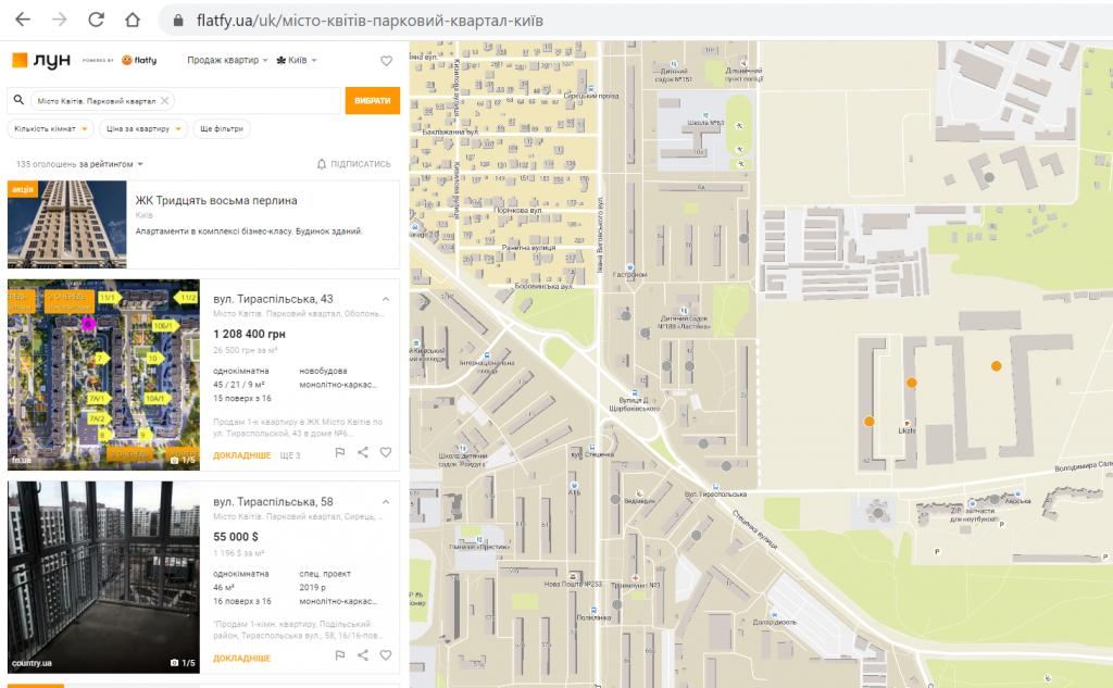ЖК Місто Квітів. Парковий квартал поиск квартиры на рынке вторичной недвижимости