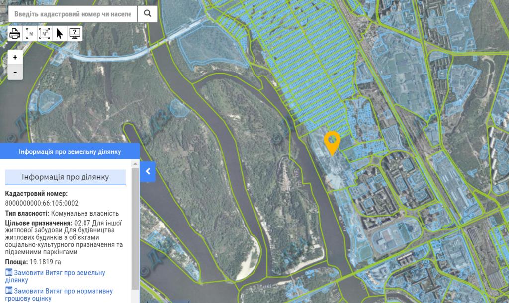 ЖК Русановская гавань данные кадастра