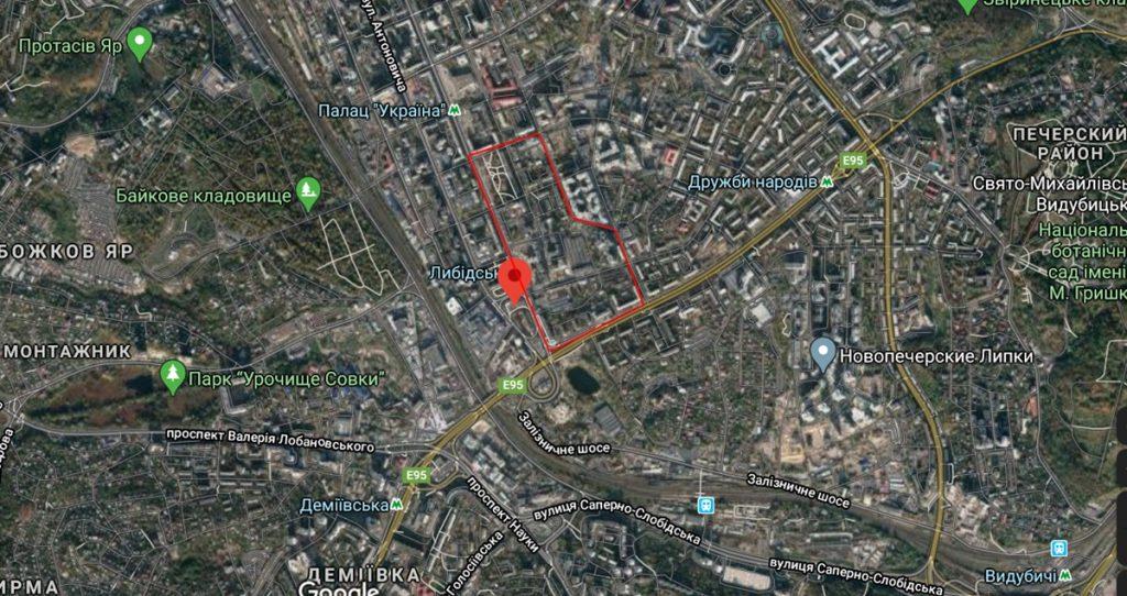 Детальный план территории Печерска территория