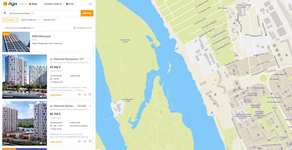 ЖК Русановская гавань продажа квартир на вторичном рынке