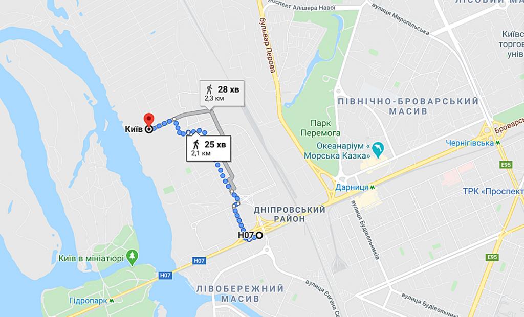 ЖК Русановская Гавань маршрут до метро
