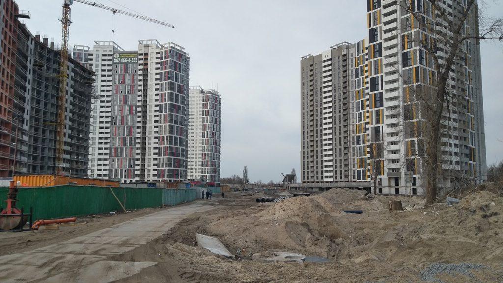 Застройка территории возле ЖК Русановская гавань