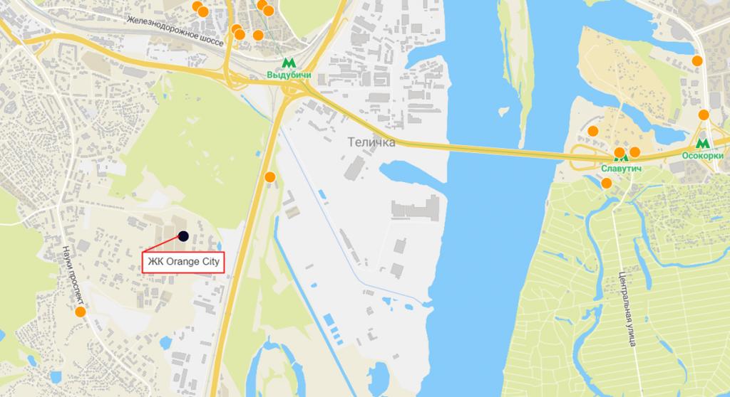 ЖК Orange City на карте