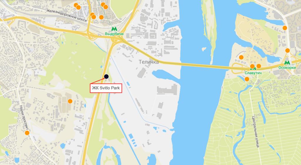 ЖК Svitlo Park на карте