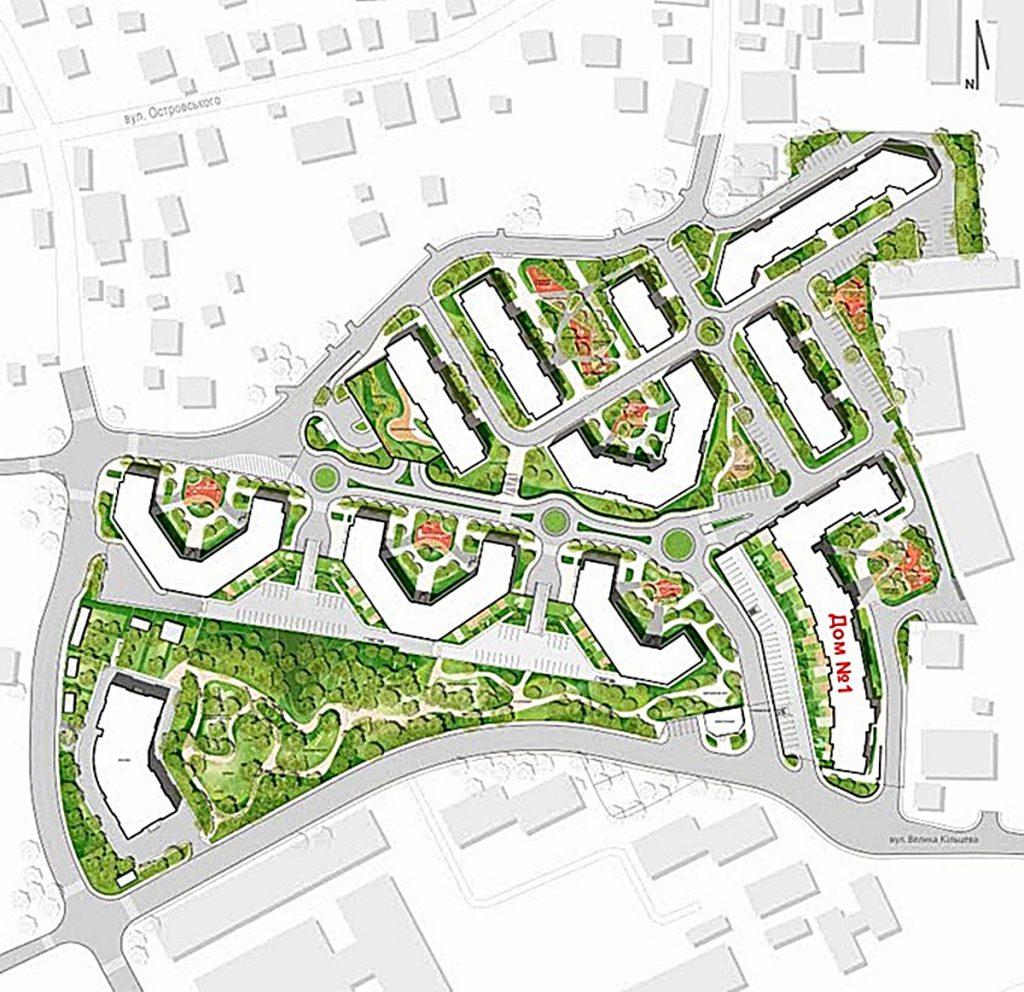 ЖК Echo Park 2 первоначальный генеральный план