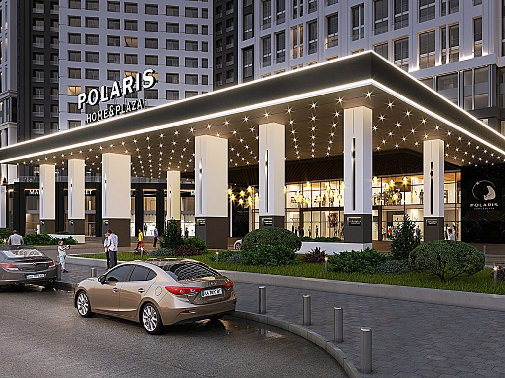 ЖК POLARIS Home&Plaza визуализация входа