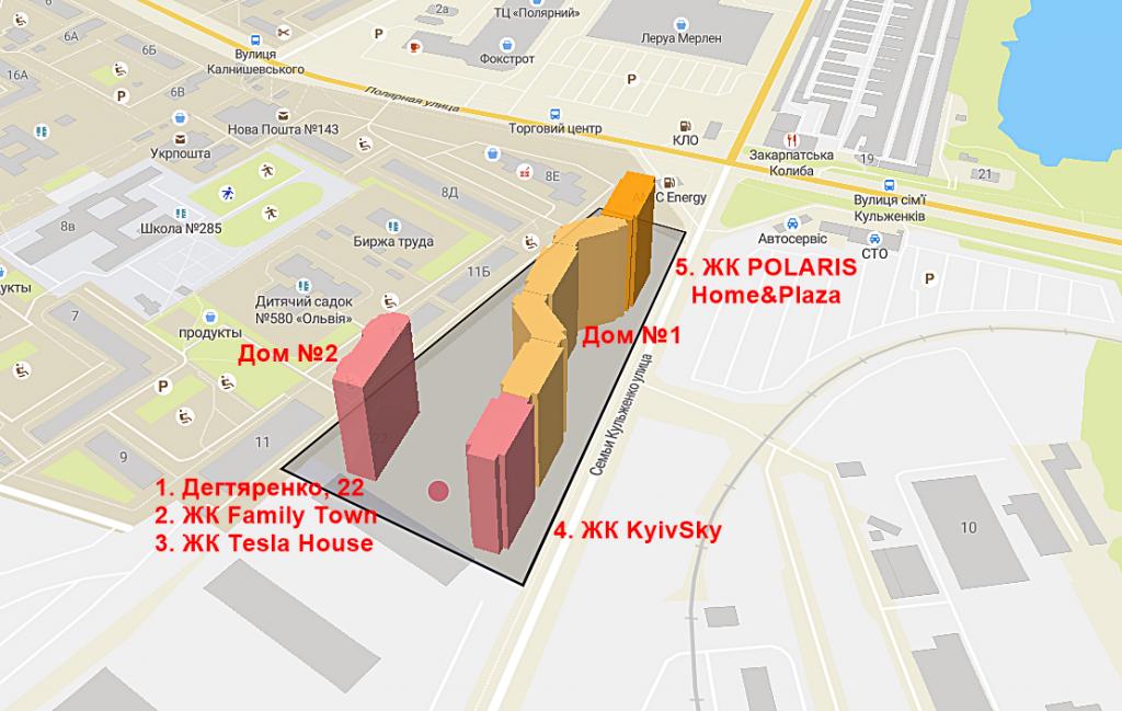 ЖК POLARIS Home&Plaza история строительства на карте