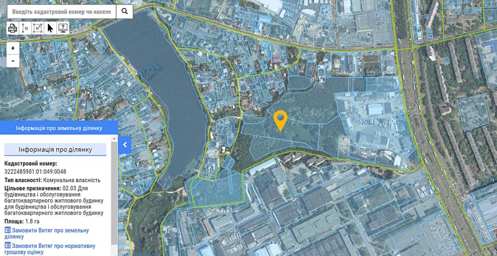 ЖК Echo Park 2 данные кадастра
