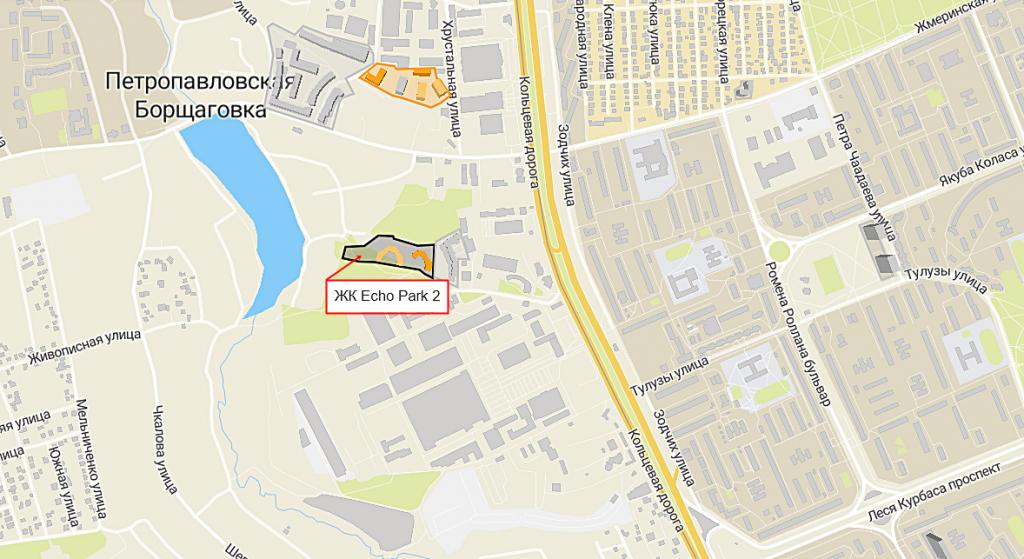 ЖК Echo Park 2 на карте