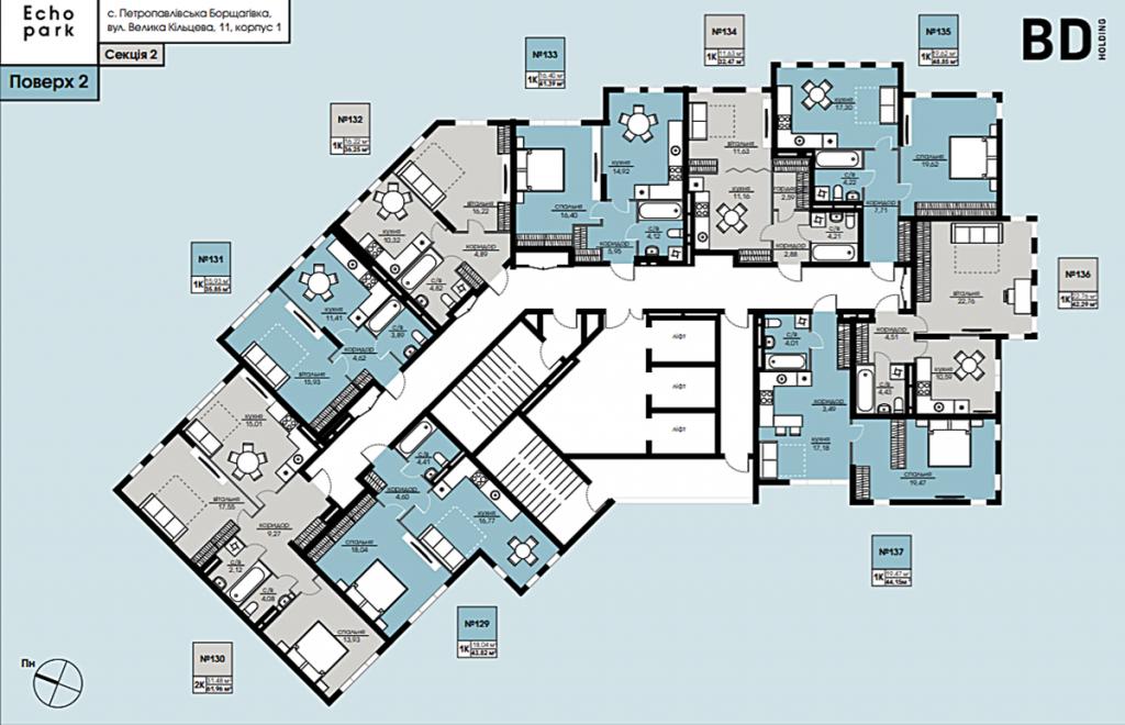 ЖК Echo Park 2 план этажа