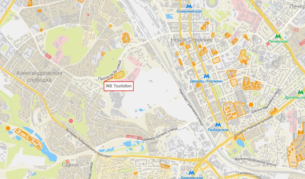 ЖК Tourbillon на карте