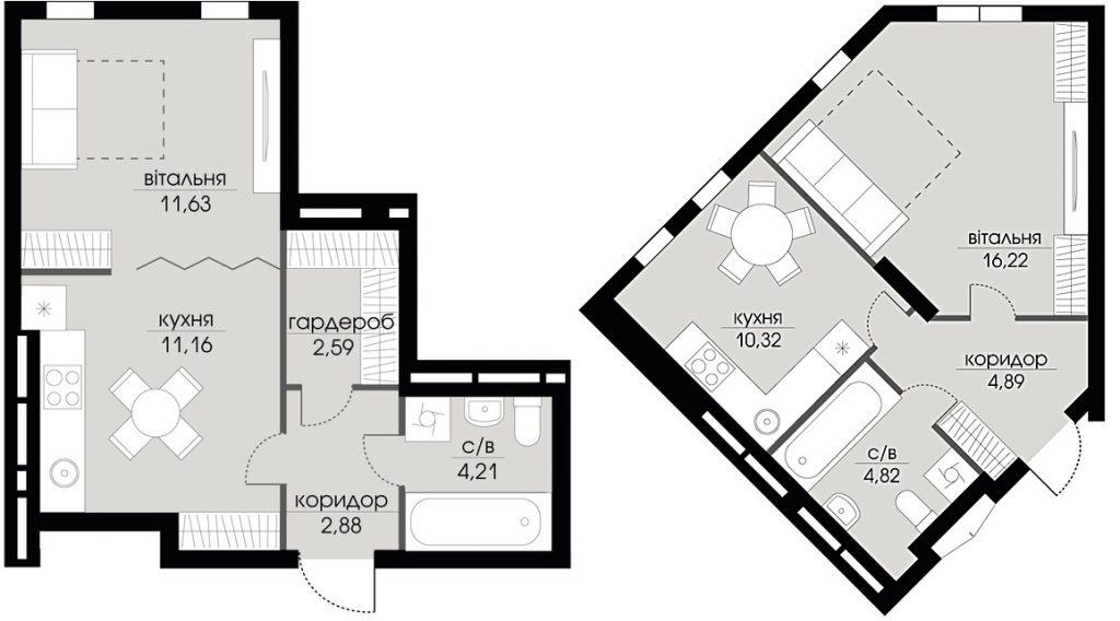 ЖК Echo Park 2 планировка однокомнатной квартиры