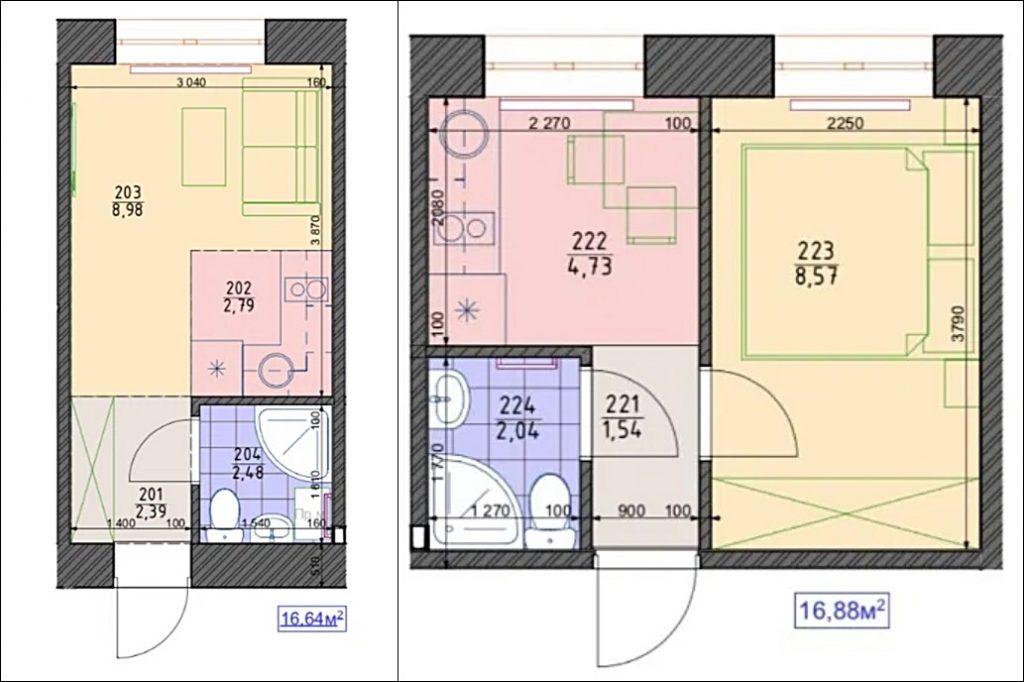 ЖК LEGO планировка однокомнатной квартиры