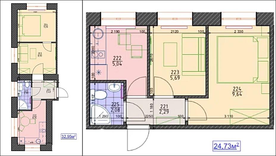 ЖК LEGO планировка двухкомнатной квартиры