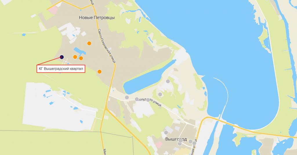 КГ Вышеградский квартал на карте