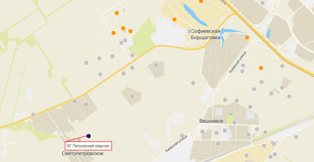 КГ Петровский квартал на карте