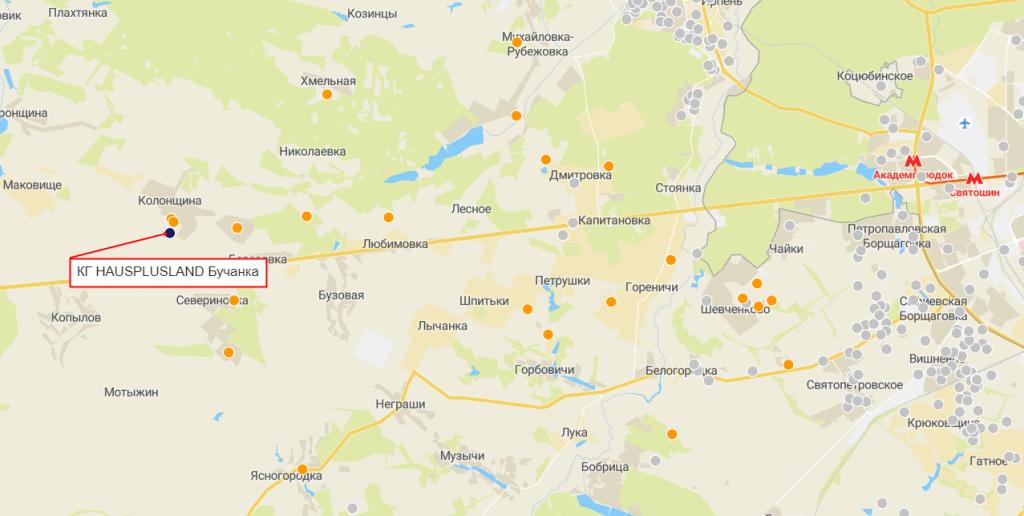 КГ HAUSPLUSLAND Бучанка на карте