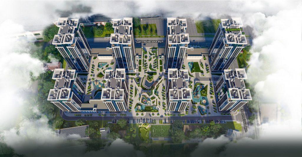 ЖК Creator City визуализация генерального плана